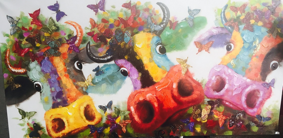 Quirky Art - Cows