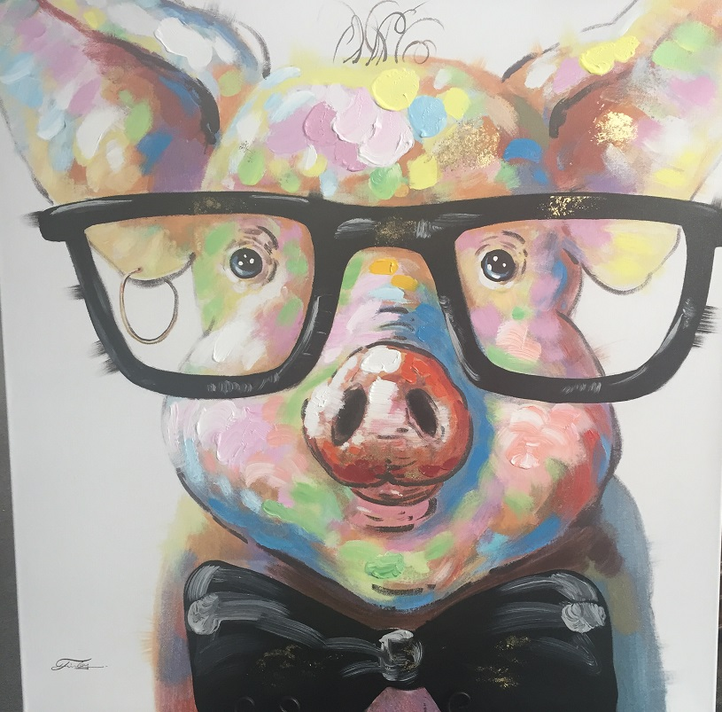 Quirky Art - Pig