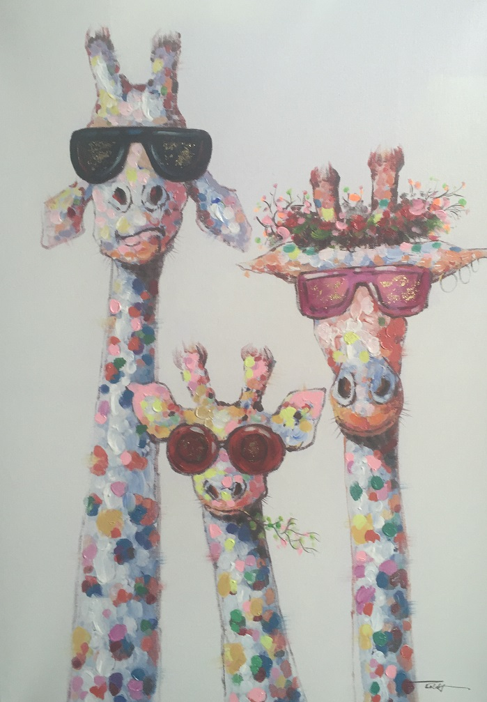 Quirky Art - Giraffes